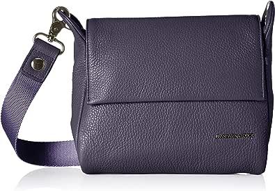 Mandarina Duck Mellow Leather Tracolla, Bolsos bandolera para Mujer, marrón, 6x15x21 centimeters (B x H x T)