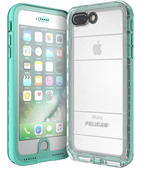online store fa63e 78428 Pelican Marine Waterproof iPhone 7 Plus Case (Teal/Clear)