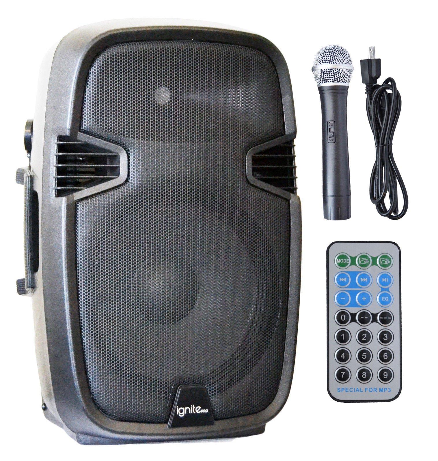 Ignite Pro 12'' Pro Series Speaker DJ / PA System / Bluetooth Connectivity 1800W by Ignite Pro
