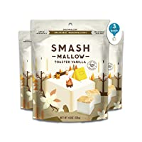 Toasted Vanilla 3 Pack By SmashMallow | Snackable Marshmallows | Non-GMO | Organic...