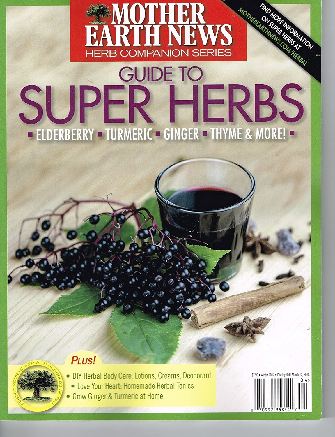 Amazon Mother Earth News Guide To Super Herbs Winter Magazine 2017 Everything Else