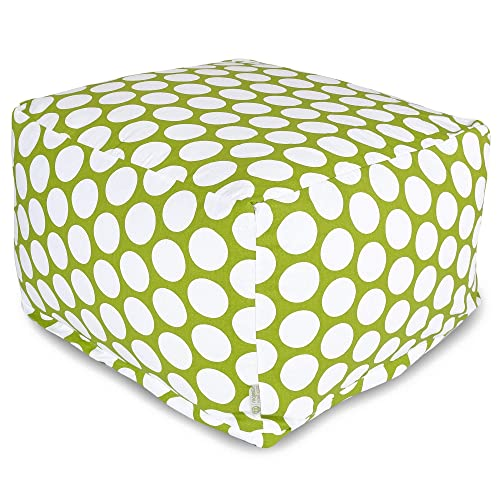 Majestic Home Goods Hot Green Large Polka Dot Ottoman, Large