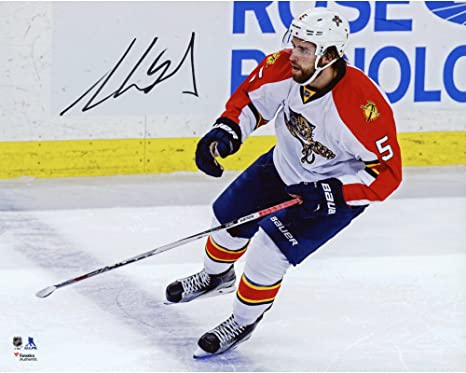 Aaron Ekblad Florida Panthers Autographed 8 quot  x 10 quot  White Jersey  Skating Photograph - Fanatics 4848b8a17