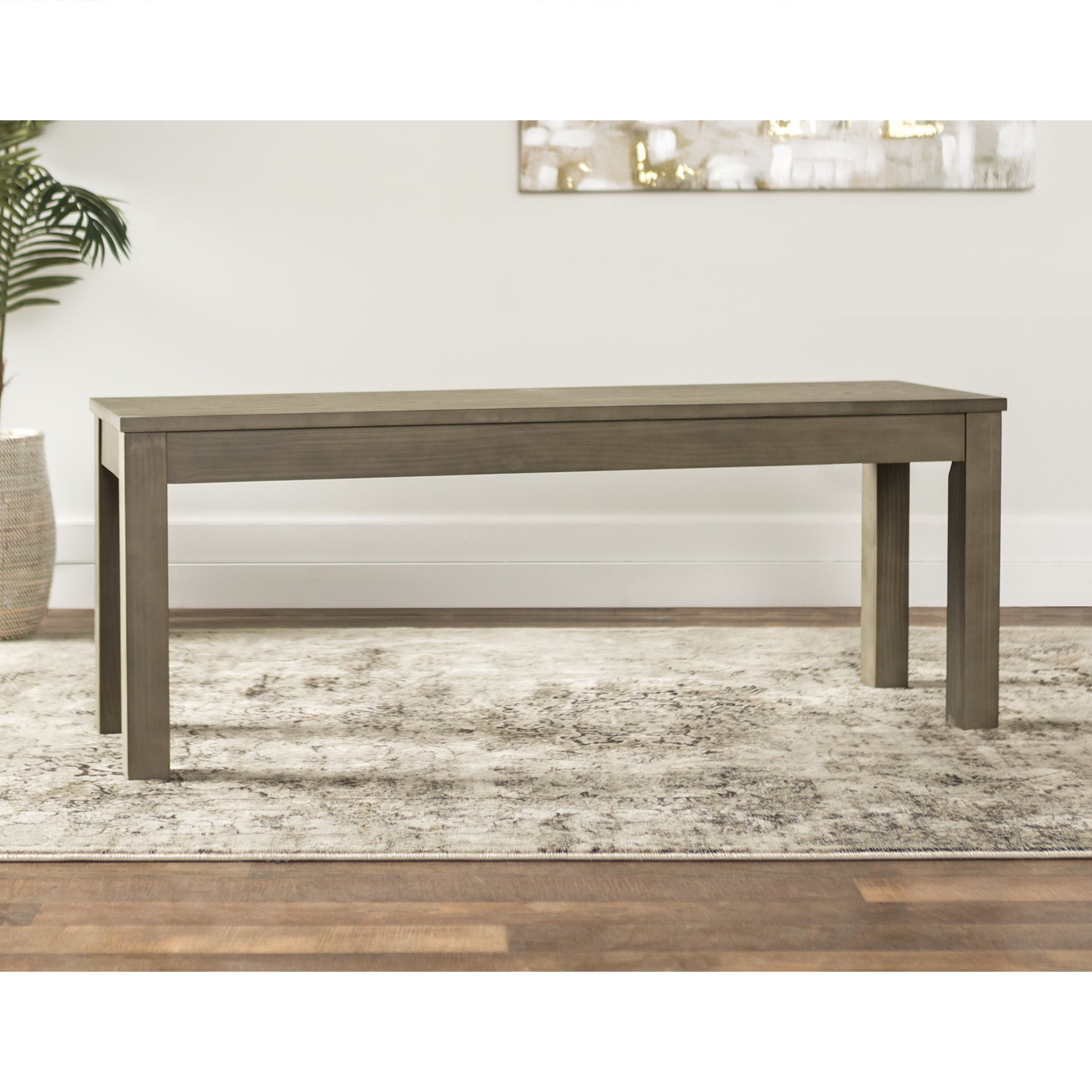 WE Furniture Aged Grey Homestead Wood Dining Bench - 48''