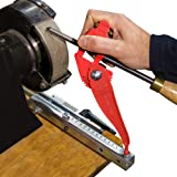 Tru-Grind Turning Tool Sharpener is an Easy, Repeatable, Precise Jig and base for Woodturning Tools including Gouges, Scrapers, Parting Tools, Skew Chisels, Carving, Carpenters, Lathe and Drills bits