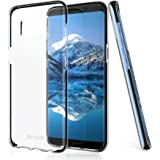 Galaxy s8 case,Acrass ultra slim transparent soft TPU cover case with plastic bumper for Samsung galaxy s8,black.