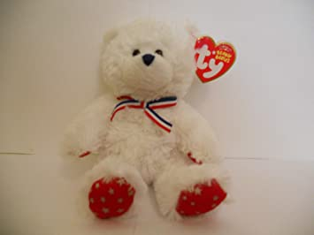 f4c0fd5805f Image Unavailable. Image not available for. Colour  Ty Beanie Babies Uncle  Sam - Bear White