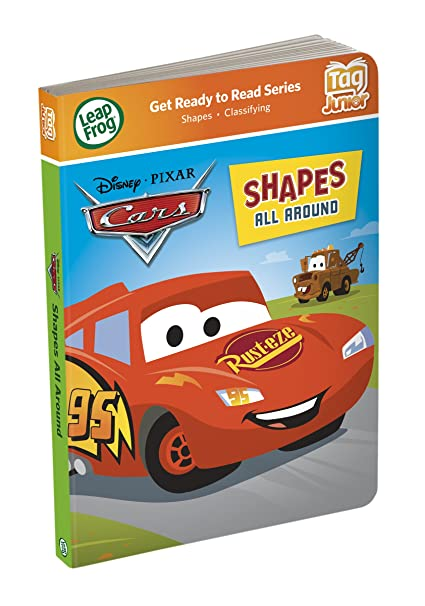 LeapFrog Tag Junior Book Cars Shapes All Around Works With LeapReader