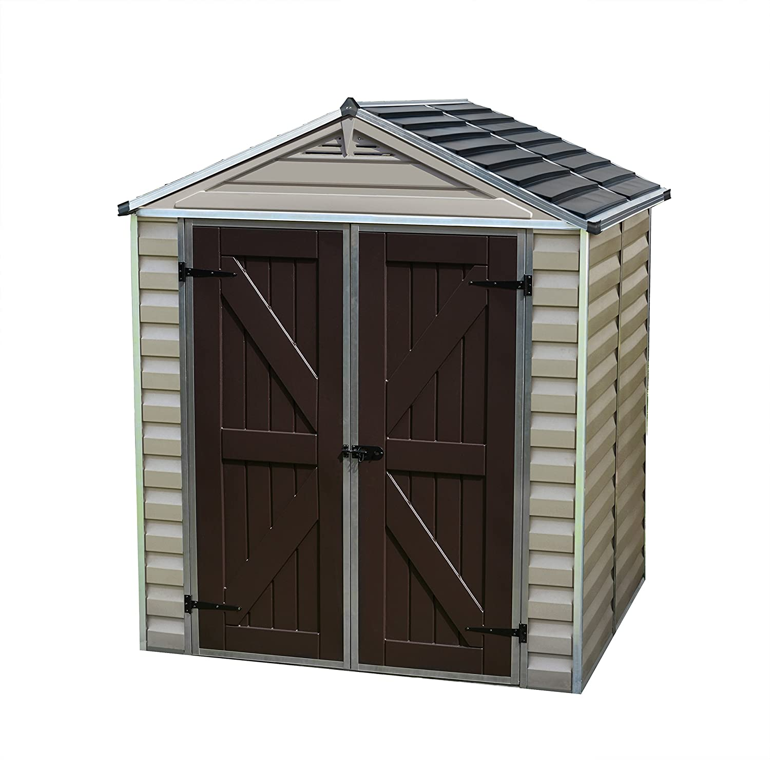 amazoncom palram skylight storage shed 6 x 5 garden outdoor