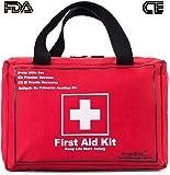 Songwin Botiquín de Primeros Auxilios de 130 artículos,Survival Tools Mini Box -Impermeable Bolsa Médica para el Coche,Hogar,Camping,Caza,Viajes,Aire Libre o Deportes,Pequeño Y Compacto.