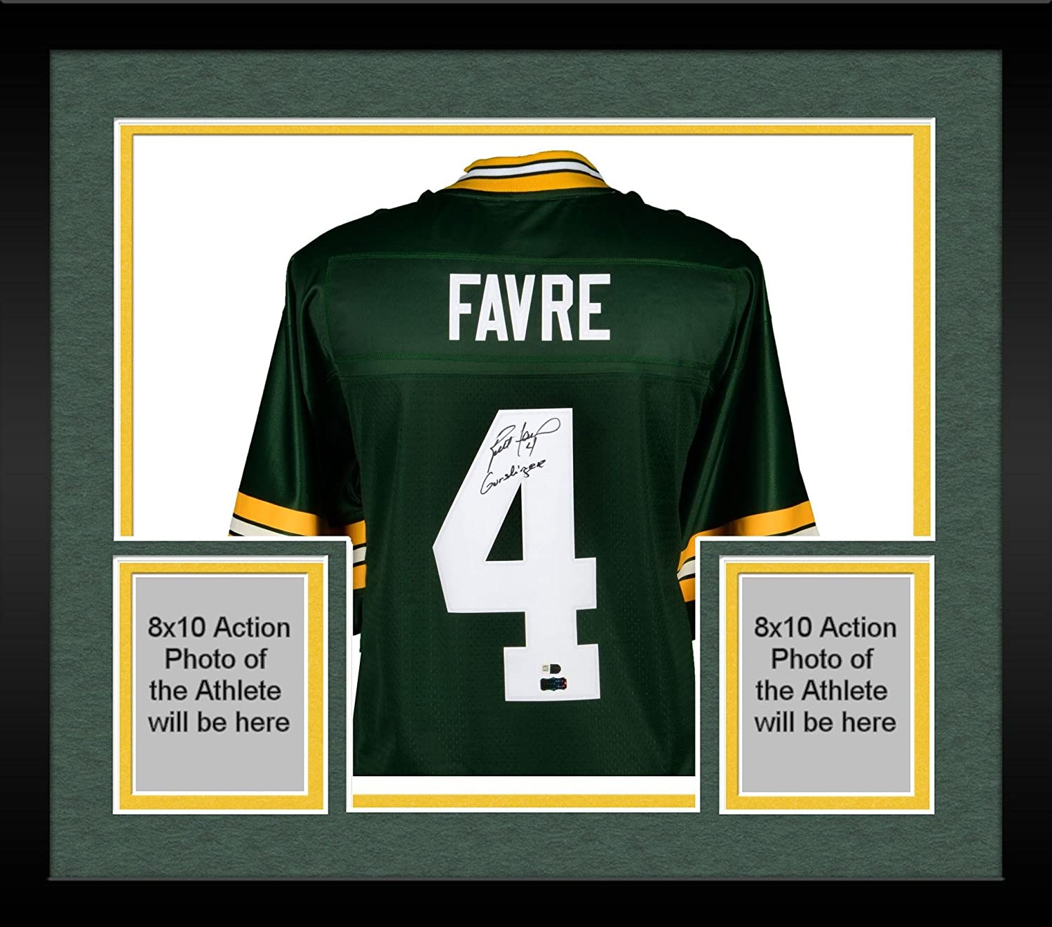 7055b83d8 Framed Brett Favre Green Bay Packers Autographed Green Pro-Line Jersey  with