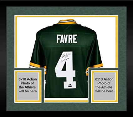 Framed Brett Favre Green Bay Packers Autographed Green Pro Line