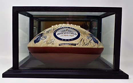 Limited Edition 2 001 Denver Broncos 2001 Inaugural Season Autographed Ball Inside Display Case Multiple Various Autographs Great For Man Cave Display Free Shipping At Amazon S Sports Collectibles Store