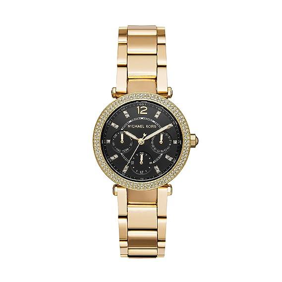 Michael Kors Reloj Cronógrafo para Mujer de Cuarzo con Correa en Acero Inoxidable MK3790: Amazon.es: Relojes