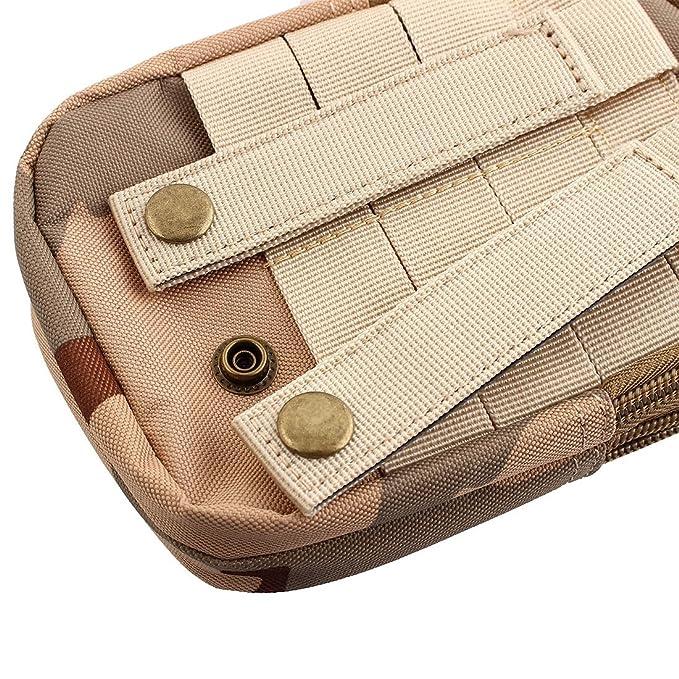 Amazon.com : eDealMax camuflaje de impresión de Nylon Sport Camping cierre de cremallera 2 compartimentos Para bolígrafo Titular de la cartera Bolsa de ...