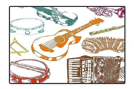 Amazon.com: Colección Area Rug Funky Teclado Micrófono ...