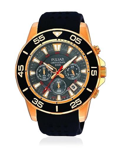 Pulsar PT3134X1 - Reloj con Correa de Caucho para Hombre, Color Negro/Gris