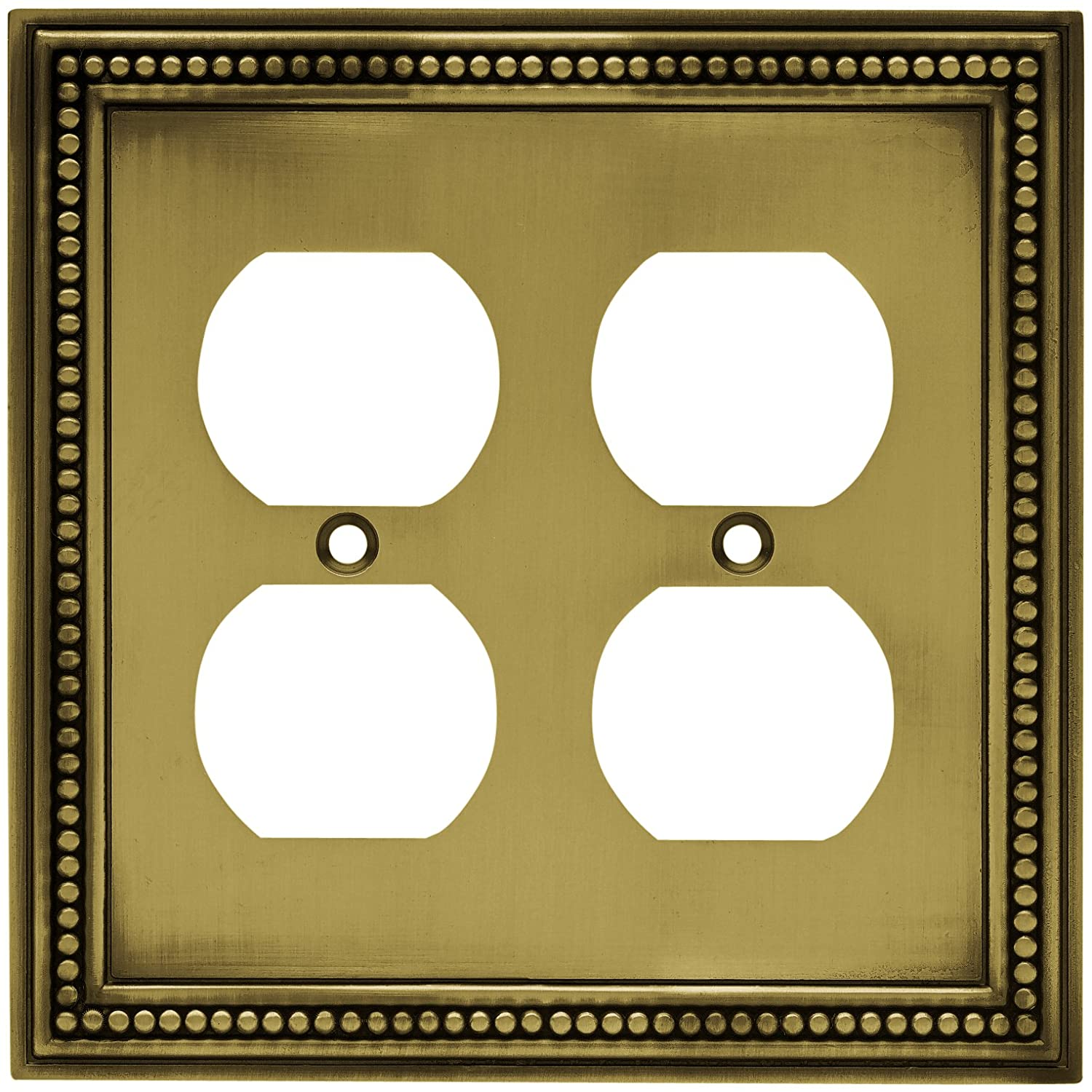 Brainerd 64767 Beaded Double Duplex Outlet Wall Plate Switch Plate