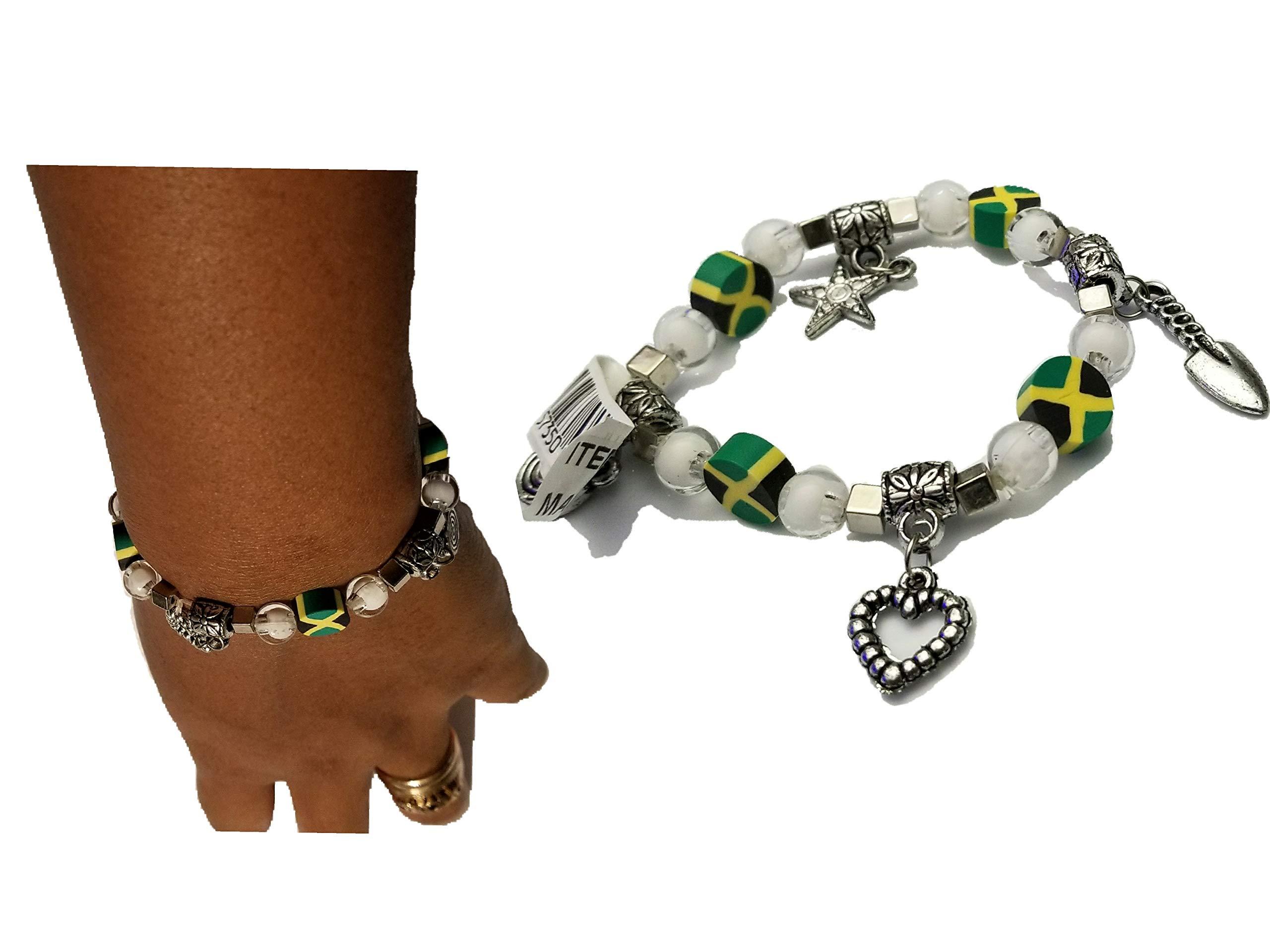 BUNFIREs Women Jamaica Jamaican Flag Bracelets Jewelry (Bracelet Charm) by BUNFIREs (Image #2)