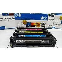 INSUREM Toner Alternativo para HP Laserjet CM1312 CP1215 CP1515 CP1518 125A (Negro CB540A)