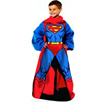 Warner Brothers DC comics Being Superman Youth Comfy Throw Blanket with Sleeves (48