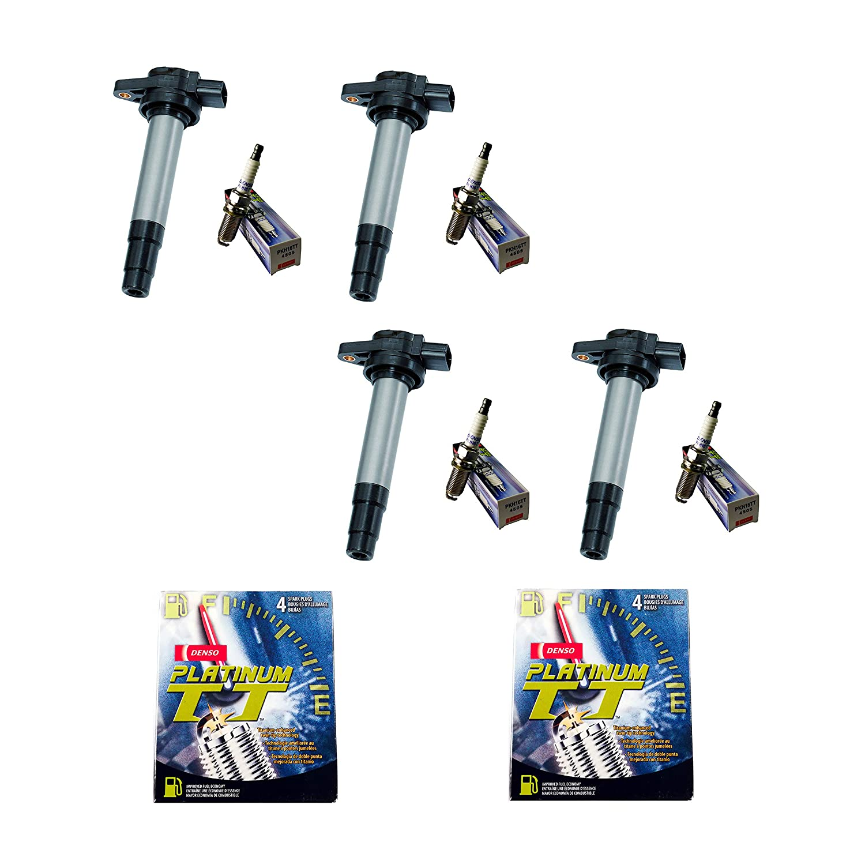 Amazon.com: Set of 4 Aftermarket UF326 Ignition Coils & Denso 4505 PKH16TT Platinum Spark Plugs for 2000 2001 Nissan Sentra L4 1.8L: Automotive