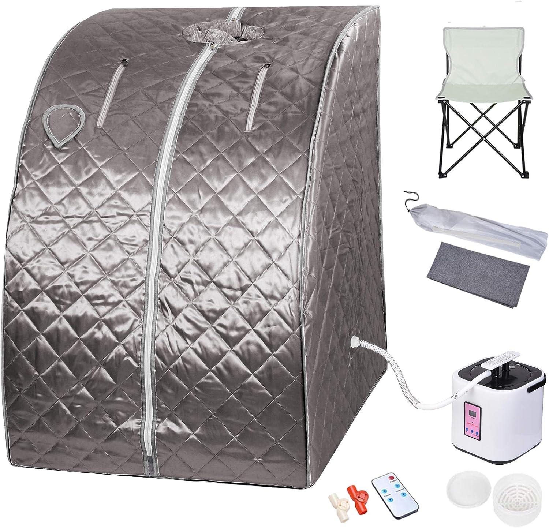 Genericss Portable Steam Sauna Tent Box Case Fast Fold Tent Detox Spa Accessory Full Body Personal Home No Steamer