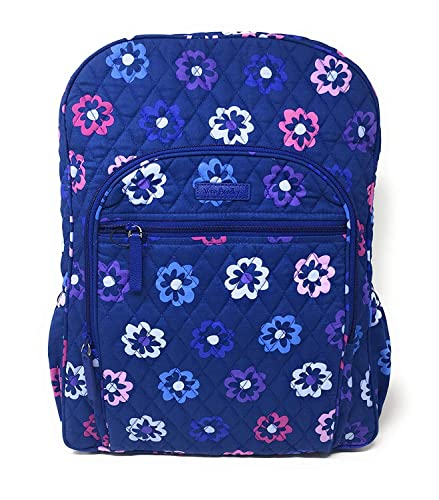 42868a565 Amazon.com: Vera Bradley Campus Backpack,Ellie Flowers with Purple Interiors ,One Size: Shoes