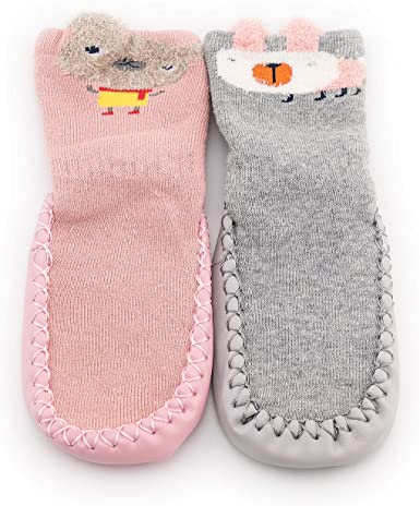 Cute Toddler Non-Slip Boot Socks Kids Baby Cartoon Soft Shoes Anti-slip Slipper