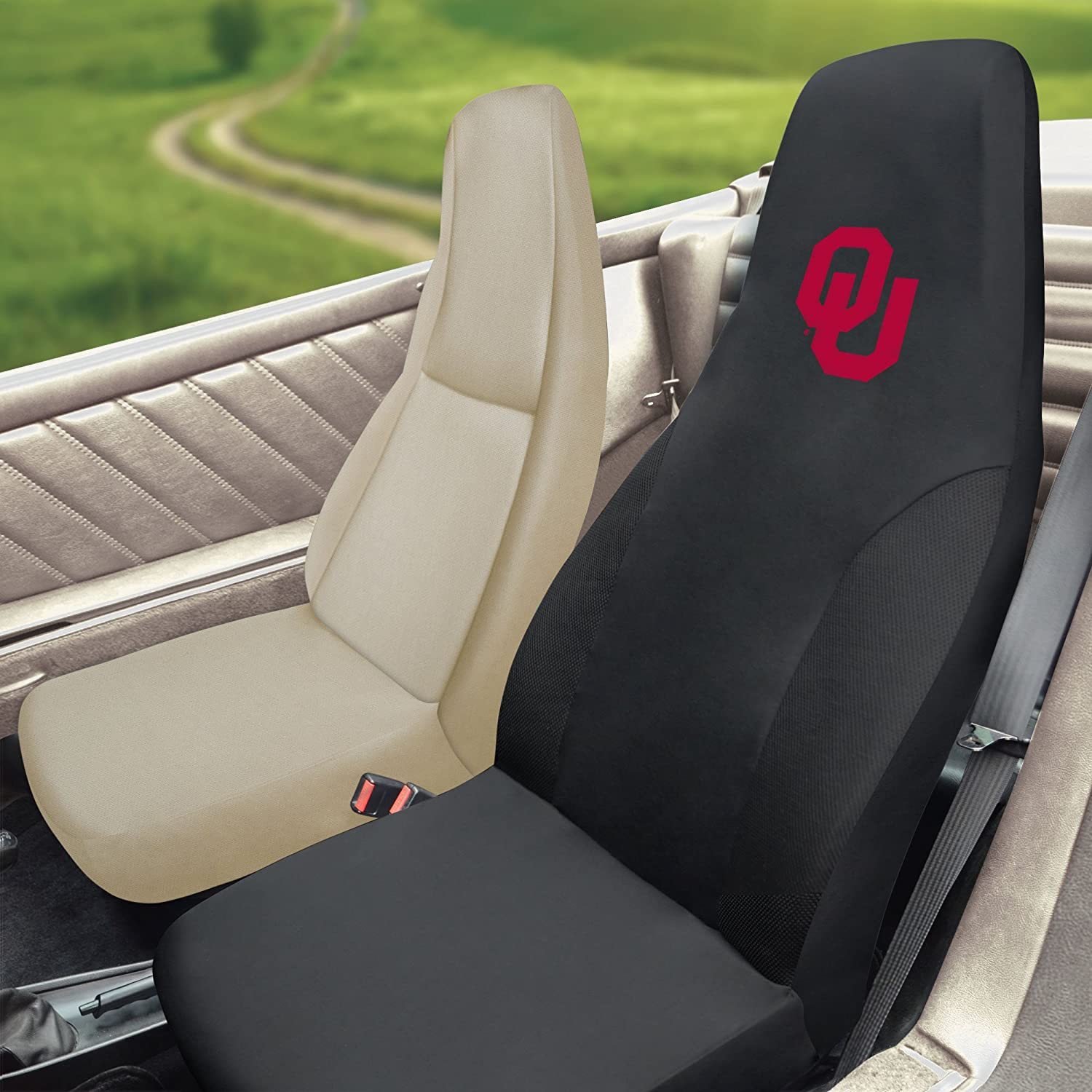 FANMATS NCAA University of Oklahoma Sooners Polyester Seat Cover 15065