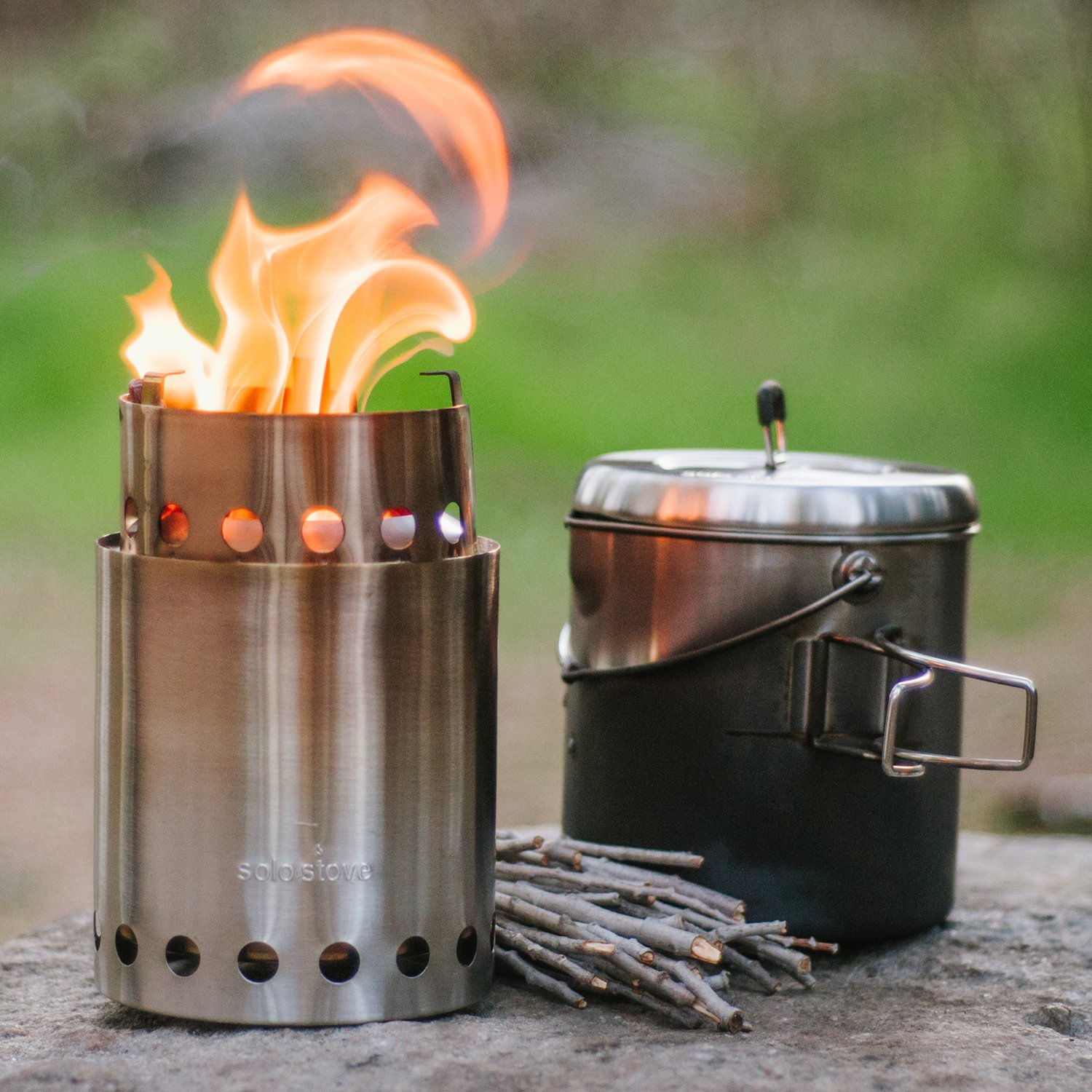 Solo Stove Titan & Solo Pot 1800 Camp Stove Combo: Woodburning Backpacking Stove Great for Camping and Survival by Solo Stove (Image #8)