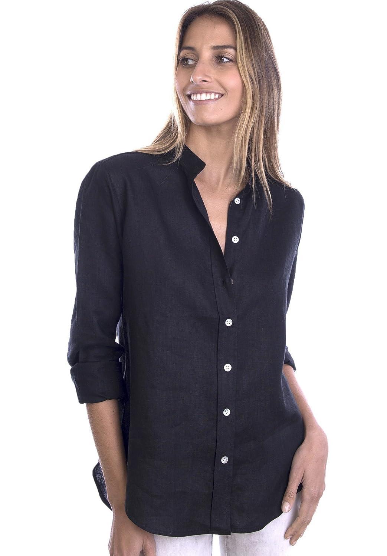 18a66134fd4 CAMIXA Women s Natural Cool Linen Button-Down Loose Shirt