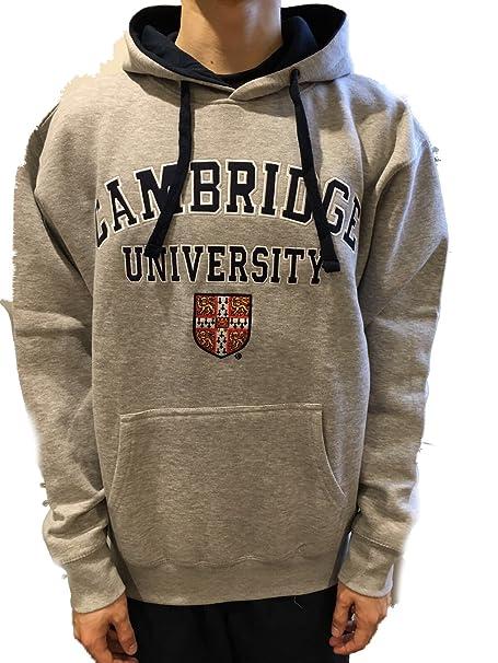 Sudadera con Capucha Oficial de la Universidad de Cambridge - Gris - Ropa Oficial de la Universidad Famosa de Cambridge: Amazon.es: Ropa y accesorios