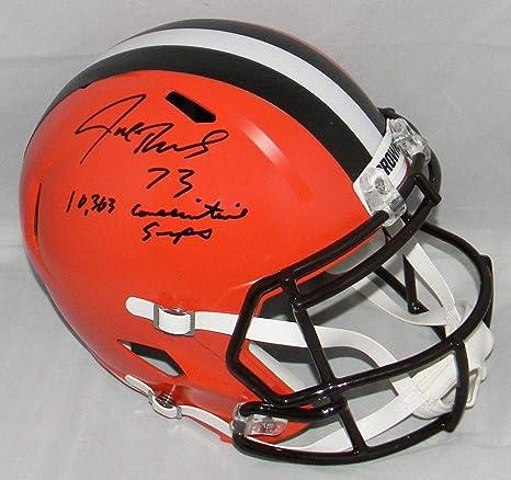 Amazon.com  Signed Joe Thomas Helmet - Full Size Speed W 10 363 Snaps - JSA  Certified - Autographed NFL Helmets  Sports Collectibles 42d15d86e