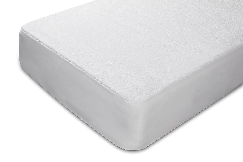 Pikolin Home - Protector de colchón, tejido rizo, algodón, impermeable y transpirable, antiácaros, 150 x 190/200 cm, cama 150 (Todas las medidas): ...