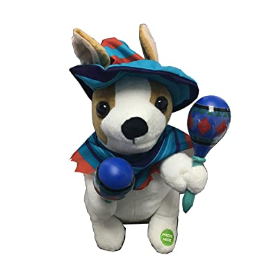 Be Jolly Animated Mariachi Puppy Fluffy Toy with Music: Home & Kitchen
