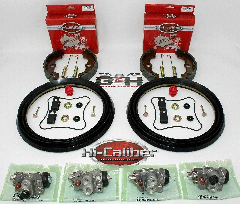 F+R brake shoes 1988-2000 1999 1998 1997 Honda TRX 300 Fourtrax 300 2X4 2WD Only