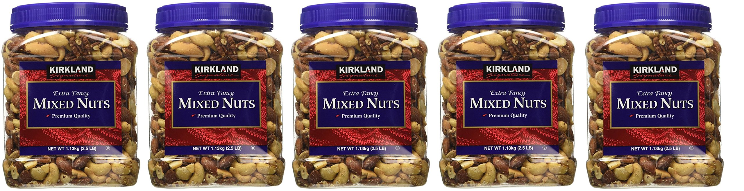 Kirkland Signature RzovGe Fancy Mixed Nuts, 40 Ounce (5 Pack)