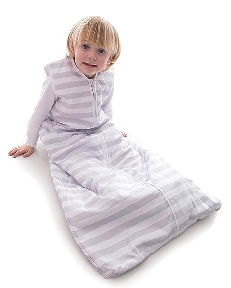 Snoozebag, Saco de Dormir Unisex con Cremallera Frontal para bebé, diseño de Rayas Grises