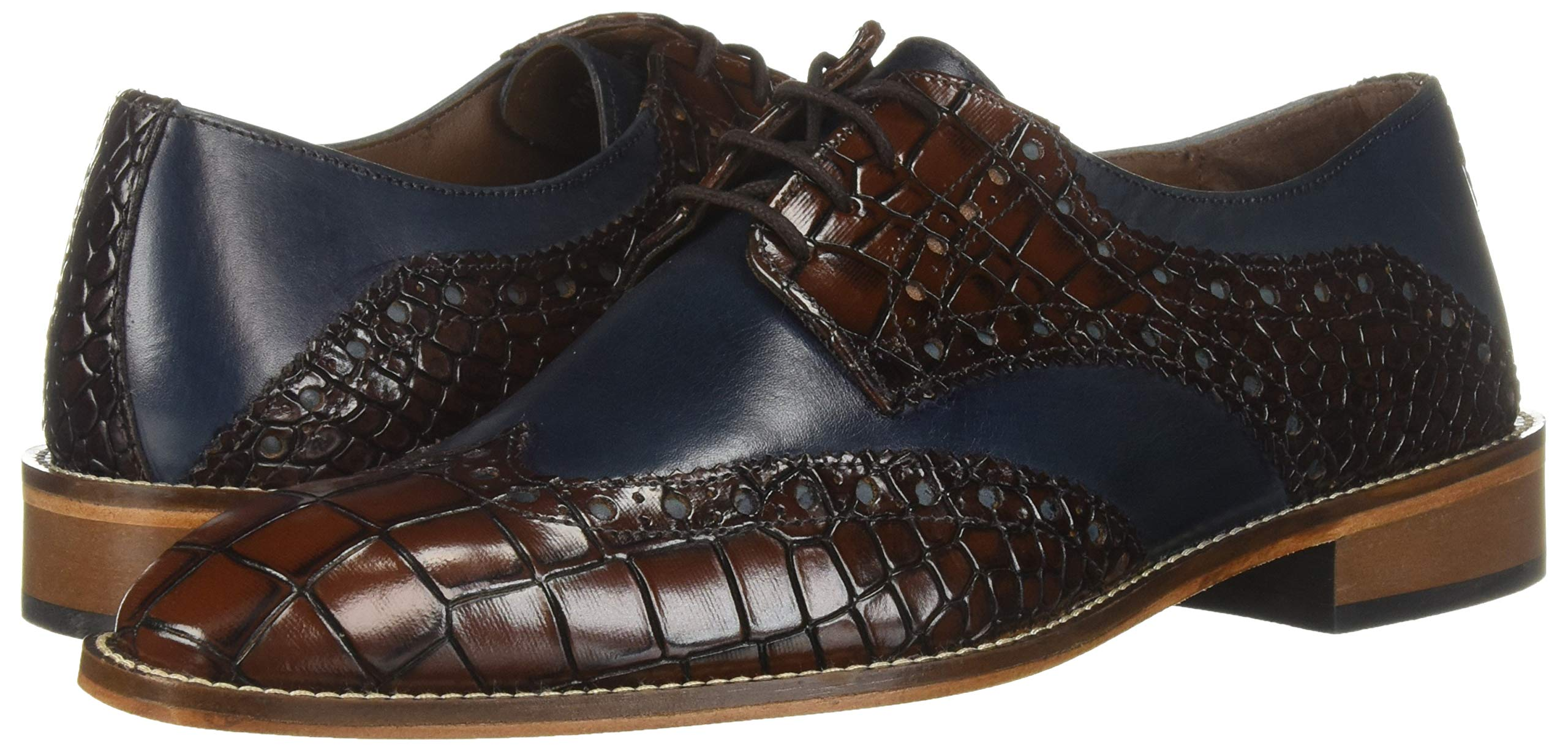 Stacy Adams Mens Tomaselli Leather Lace Up Dress Oxfords