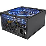 Rosewill Gaming Power Supply / PSU, 1000 Watt (1000W) 80 PLUS Bronze Certified PSU with Silent and Blue LED 135mm Fan and Auto Fan Speed Control, Semi-modular Design, RBR-1000MS