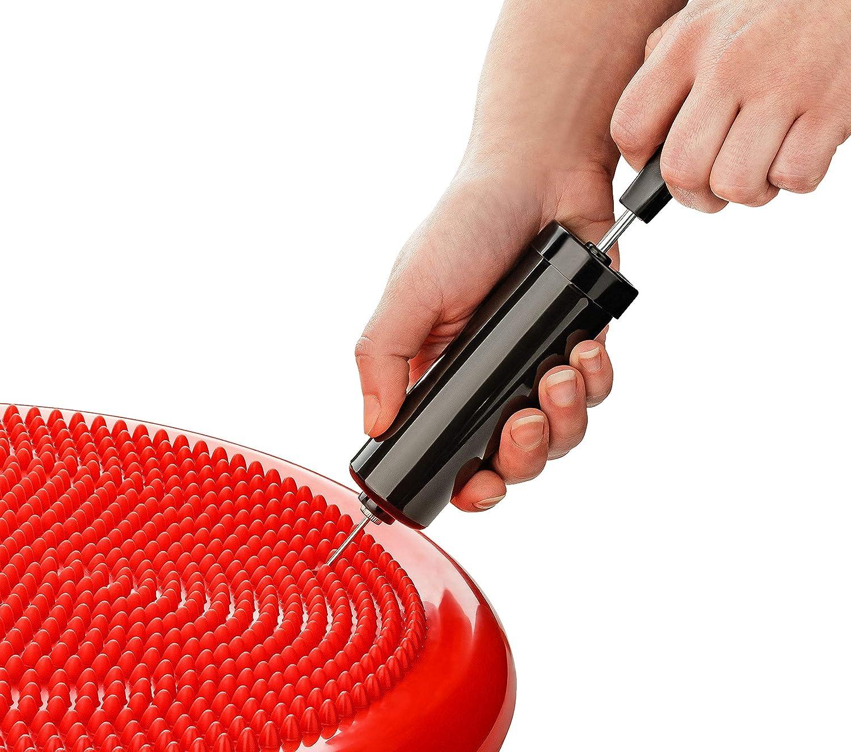 Luftkissen Balance-Kissen Core- Reha- Noppenkissen Fitness- Pumpe 34cm Durchmesser Balance Pad Koordinations- und R/ückentraining BODYMATE Ballsitzkissen inkl