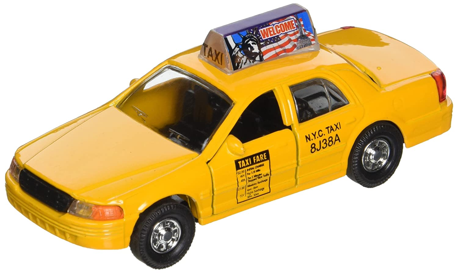 New York City Modern Yellow NYC Medallion Taxi Cab 1 43 O Scale Diecast Commercial Car