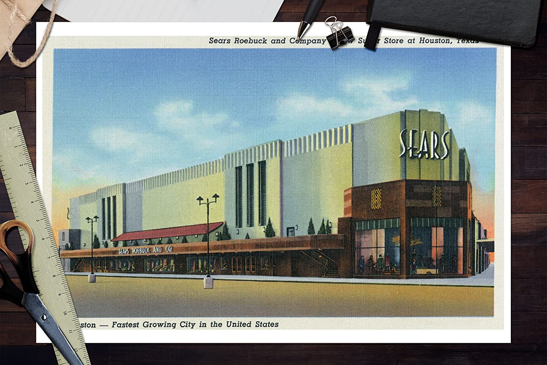 Amazon.com: Houston, Texas - Exterior View of Sears Roebuck and Co ...