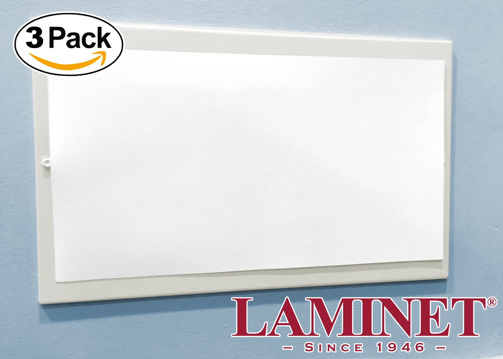 LAMINET Thick White Magnetic Floor Vent Covers - Made in USA - Industrial Strength Magnet for Floor Air Registers - for RV, Home HVAC, AC & Furnace Vents - NOT for Ceiling Vents - 5.5'' x 12'' - 3-Pack by LAMINET