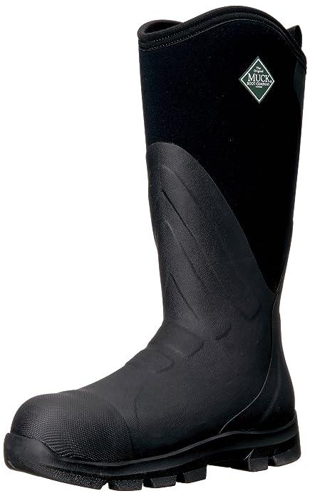 93fbdd7178b Muck Grit Tall Steel Toe Men's Rubber Work Boots Black: Amazon.ca ...