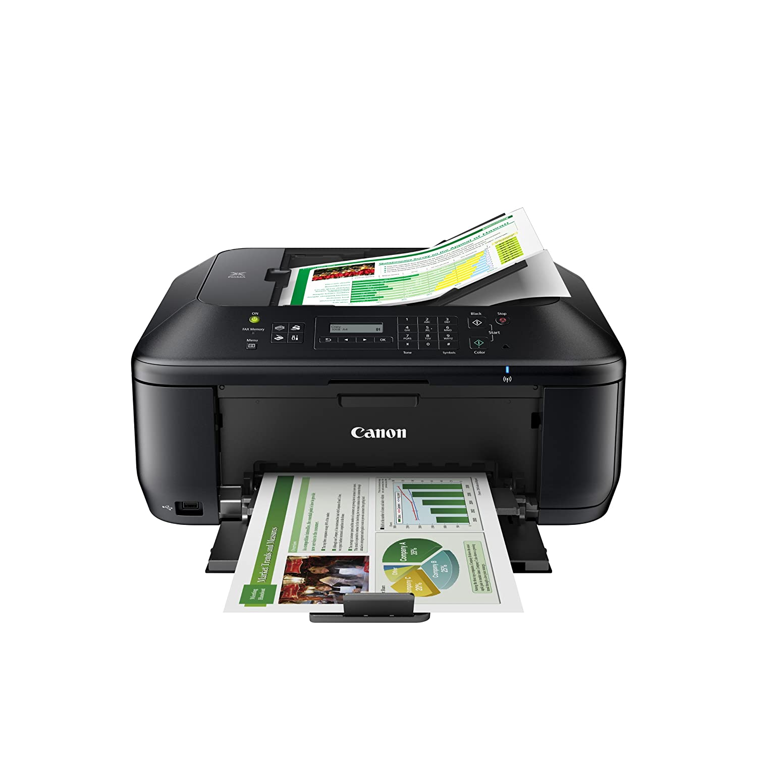 Canon PIXMA MX532 Wireless All-in-One Business Inkjet Printer with Scanner, Copier, Fax and Auto Document Feeder. 8750B003