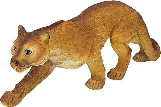 PROWLING STALKING SPOTTED JAGUAR SCULPTURE Outdoor Cat Predator Garden Statue