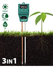 Fosmon Soil pH Tester - 3-in-1 Measure Soil pH Level, Moisture Content, Light Amount Soil Test Kit for Indoor Outdoor Plants, Flowers, Vegetable Gardens and Lawns