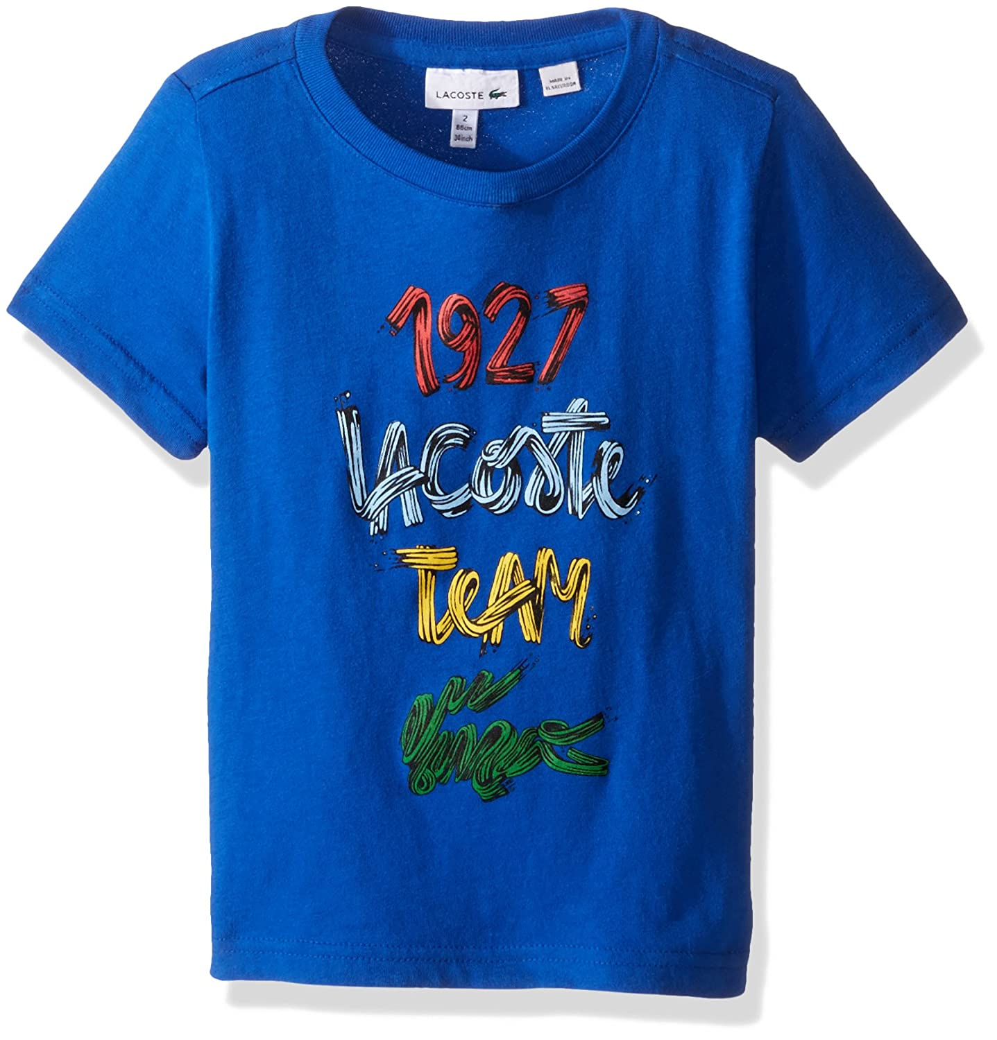ce5d26ee Amazon.com: Lacoste Boys' Short Sleeve 1927 Croc Graphic T-Shirt ...